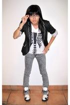 Zara blazer - DIY t-shirt - 7 for all mankind jeans - doc martens boots