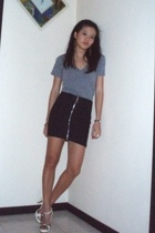 American Apparel t-shirt - DIY skirt - c&k shoes