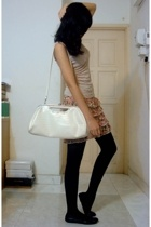 top - purse - pull&bear skirt - - shoes