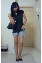 Seduce top - shorts - Topshop purse - shoes