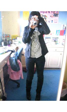 Topshop blouse - H&M pants - blazer