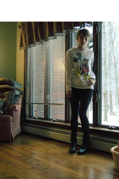 American Apparel dress - sporto boots - Disney sweater