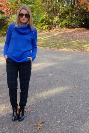 Loft pants - Zara boots - high neck H&M sweater - black Forever 21 sunglasses