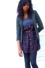 Green-silence-noise-blazer-purple-pins-and-needles-dress-black-704b-shoes