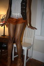 Tan-jeffrey-campbell-boots-burnt-orange-kimchi-blue-shorts-white-thrifted-to