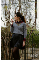 checkered Max shirt - heather gray Zara coat - gray cashmere H&M sweater