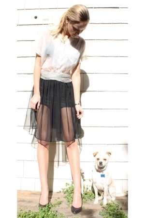 blouse - thrifted - American Apparel skirt - Urban Outfitters shoes
