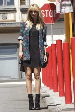 Alexander Wang dress - blazer - Deena &amp; Ozzy shoes