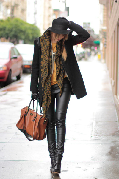 black Alexander Wang shoes - black American Retro jacket - black H&M pants
