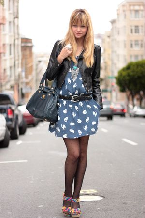 blue Zara dress
