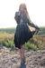 black vintage dress - beige Zara belt - beige surface to air shoes - silver vint