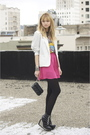 Pink-urban-outfitters-skirt-silver-vintage-blazer-gray-vintage-guns-and-rose