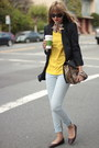yellow Zara top