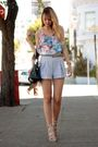 blue American Apparel shorts - beige surface to air shoes