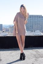 beige threadsence dress