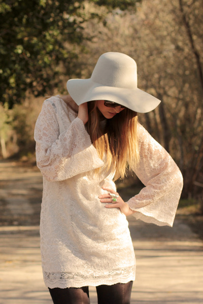 white threadsence dress