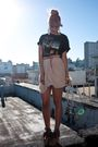 Beige-storets-skirt-black-vintage-t-shirt-beige-gap-shoes-beige-h-m-belt-