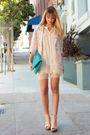 pink Persephone vintage blazer - beige American Apparel shorts