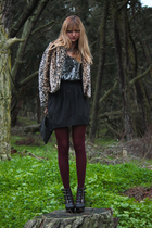 silver H&M dress - black Urban Outfitters skirt - black Jeffrey Campbell shoes -