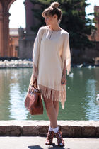 beige Zara dress