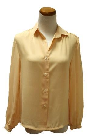 peach vintage blouse