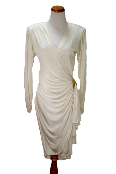 Vintage 80&-39-s wrap dress by playingwithfire - Chictopia