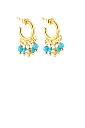 turquoise blue Peggy Li Creations earrings