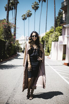 House of CB jacket - black Ray Ban sunglasses - black Aritzia top