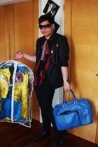 red herring jacket - Topman pants - Topman shoes - Alexander McQueen scarf