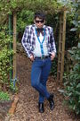 Gray-river-island-jacket-white-h-m-shirt-blue-topman-jeans-black-river-isl