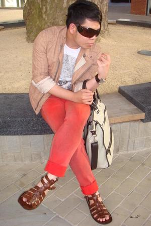 Reiss jacket - Zara t-shirt - John Galliano jeans - Poste shoes - Zara purse - c
