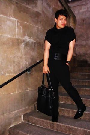 River Island shirt - Zara pants - Sisley scarf - Poste shoes - jasper conran acc
