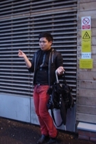 All Saints jacket - Junk Deluxe shirt - All Saints vest - John Galliano jeans -