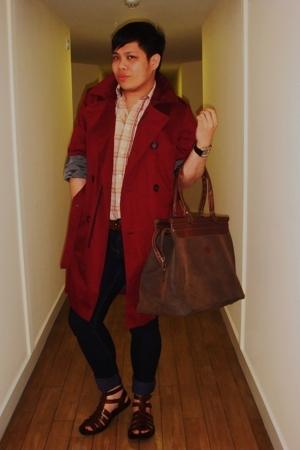 Reiss coat - John Rocha shirt - accessories - shoes