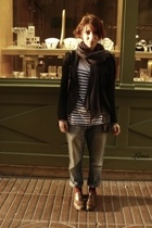 fait main accessories - Sisley jacket - H&M t-shirt - fathers jean jeans