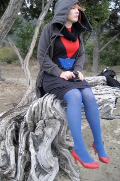 gray hoodie Collective Clothing - star trek dress vintage - vintage