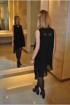 black River Island dress - Topshop boots