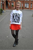 red Topshop sweatshirt - Topshop skirt