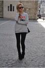 Black-topshop-jeans-heather-gray-rika-sweatshirt