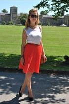 Mango skirt - Topshop t-shirt - asos heels
