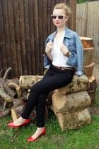 Topshop jeans - vintage jacket - Topshop shirt