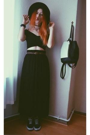 Primark bag - Forever 21 hat - Primark flats - H&M skirt