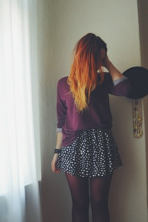 Primark tights - H&M top - cotton Sheinside skirt
