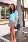 Blue-f21-top-brown-mothers-closet-skirt-brown-jeffrey-campbell-shoes-black