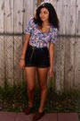 Black-thrifted-shorts