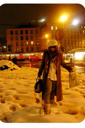 coat - Topshop boots - hat - scarf - shirt