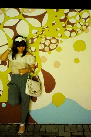 accessories - top - pants - Anya Hindmarch purse - Charles & Keith shoes