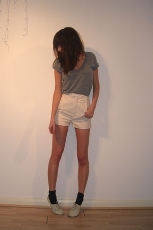 American Apparel t-shirt - Richard Nicoll for Topshop shorts - Topshop shoes