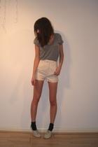 American Apparel t-shirt - Richard Nicoll for Topshop shorts - Topshop shoes