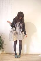 Topshop jacket - H&M dress - H&M scarf